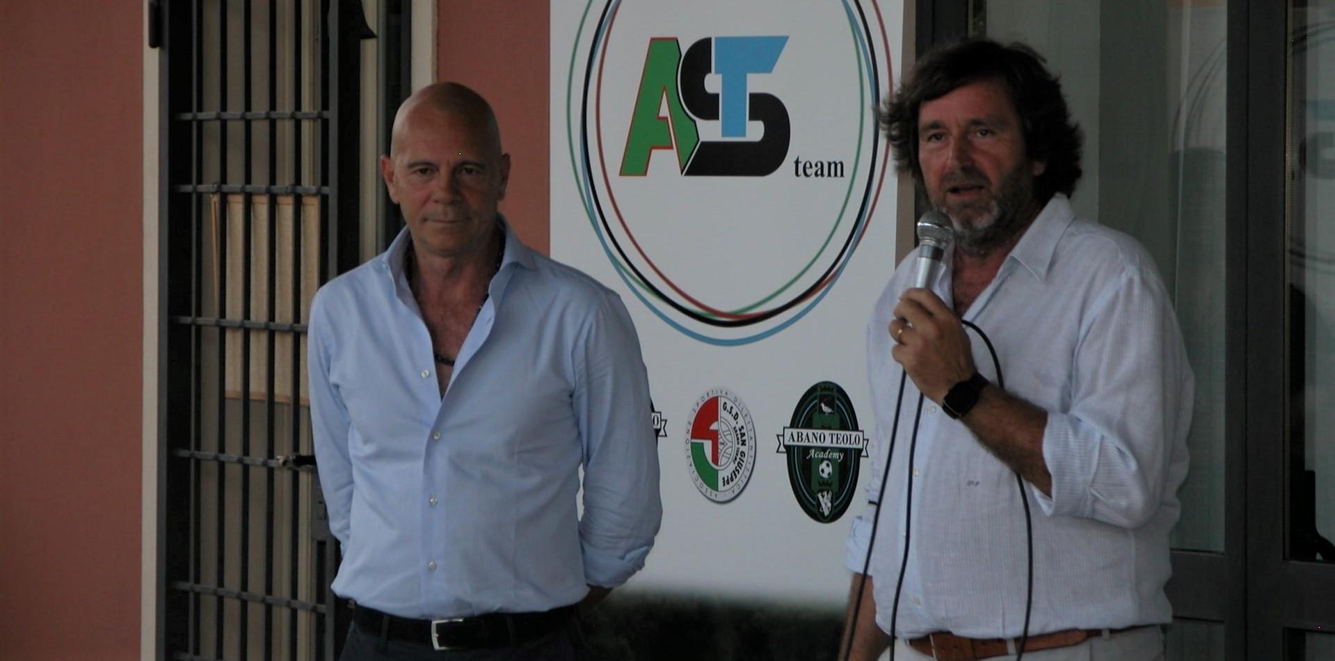 Mister Massimo Milazzo con il direttore sportivo Franco Sartori